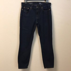 J. Crew Toothpick Ankle Size 28 Jeans Dark Wash